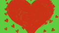 heart video with green background 71250005