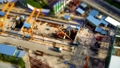 [Time Lapse] [Construction Site] Clam Shell Excavator Car Miniature Type Lapse at Construction Site 71250902
