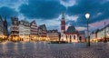 Frankfurt, Germany. Romerberg - historic market square with german timber houses (static image with animated sky) 71361783