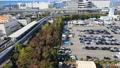 Osaka Nanko Industrial Zone Aerial 4K New Tram 71387288