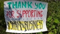 Thank you for supporting a small business - Nature banner.  71630788