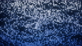 Data mining blue moving glowing dots looping background  71632229