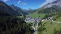 Astonishing aerial view of valley hidden away in mountains 71634557