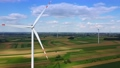 Wind farm of many windmills from drone 71634560