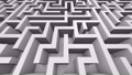 Camera flying on a 3d black and white maze looping background 71662446
