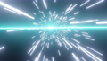 緑の光に向かうワープ、3Dレンダリング 71801955