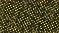 視点が回転するランダムに点滅する角の丸い黄色い正方形のループ映像 71827520