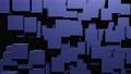 ランダムな方向に移動する青い直方体のループ映像 71827529