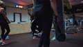 sportive women fitness group workout total body  71853432