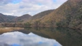 Kyoto Ono Dam Park Autumn Leaves Maple Aerial Wind Park 4K Rainbow Lake 71993248