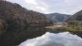 Kyoto Ono Dam Park Autumn Leaves Maple Aerial Wind Park 4K Rainbow Lake 71993249