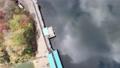 Kyoto Ono Dam Park Autumn Leaves Maple Aerial Wind Park 4K Rainbow Lake 72022196