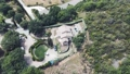 Agriturismo in Orcia Valley, Tuscany. Circular aerial view 72173519