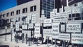 SALT LAKE CITY, UT - JULY 14, 2019: Street signs in front of Salt Palace Convention Center on a beautiful sunny day. They are a tourist attraction. 72173527