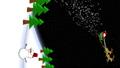 세로 소재 크리스마스 이미지 비행 산타와 눈사람 72176132
