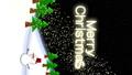 세로 소재 크리스마스 이미지 비행 산타와 눈사람 텍스트가 [Merry Christmas 72176133