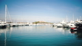 Sea harbor or port for the yacht club in the blue sea. Haven or anchorage on the cote d'azur in 72204270