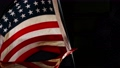 Close up of American Flag Waving. USA Banner Flaping in Wind.  72222869