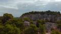 Aerial veiw of steep rocky wall on a stony shore of Adriatic Sea. Rovinj. Croatia 72236778