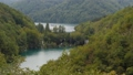 Plitvice Lakes between green mountains. Terraces with water on different height 72236841