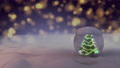 The Snow Globe with Christmas tree decorated with christmas lights inside it. 3d render animation 72256420