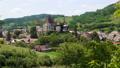 panoramic view of famous fortified saxon church of Biertan, Sibiu, Romania 72360681