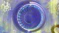 점성술 바람의 금속 고리 - 청색 기조 72389213
