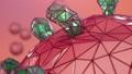 Abstract digital viral infection, causing chronic disease. Outbreak COVID-19. Spread of virus. Hepatitis viruses, influenza virus H1N1, Flu, infecting organism, aids. 3D animation. 72418922