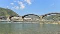春の錦帯橋と桜並木のタイムラプス 72478622