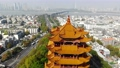 Beautiful aerial view flying a drone of Yellow Crane Tower , Wuhan, china (huanghelou) 72695273