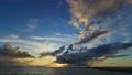 夕焼けの海 高画質4Kタイムラプス  permingM200913 72697007