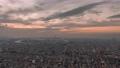 大阪 タイムラプス 夕焼け あべのハルカス 72961050