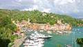 Scenic view of the port and the village of Portofino on Italian Riviera 73095235