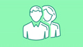 Man and Woman line icon on the Alpha Channel 73101807