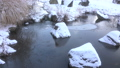 Snow-covered pond [Azumino Ikeda Craft Park] 73105029