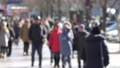 De focused people on the street walking winter time 73123123