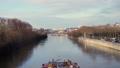 PARIS, FRANCE - MARCH 28: ship floating by the Seine river under the bridge at Paris 73311029