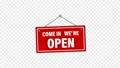 紅色搖曳標誌(帶有Alpha通道)指示打開/打開 73572357