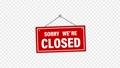 紅色搖曳標誌(帶有Alpha通道),告訴您商店已關閉/已關閉 73572358