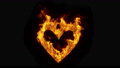 3d rendered CGI Burning Heart Loop on Black Background 73674556
