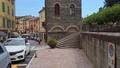 walking italian town village medieval tower picturesque landmarks Emilia Romagna , Porretta province 73728808