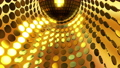 Sparkling disco ball and many golden coins, computer generated. 3d rendering festive background 73742029