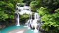 【대 轟の滝] (슬로우 모션) 도쿠시마 현 나카 군 나카 정 沢谷 73767244