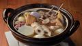 Earthenware pot oden close-up 73821079