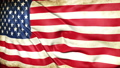 Dirty flag of the United States of America from war waving 73843339