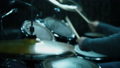 Drummer Playing On Drums In Studio. Close Up. Slow Motion Effect 73852157