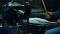 Musician Playing Drum Set In Studio. Close Up. Slow Motion Effect 73852158