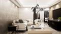 luxury living room interior design, pan right shot, video 3D animation 73858021