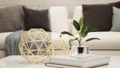 modern luxury white living room interior, pan right and blur shot, video 3D animation 73858022