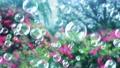 Soap bubble bubble park flower background loop 73945776